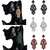 Fashion Vintage Wedding Crystal Rhinestone Dangle Drop Stud Chandelier Earrings