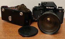 Nikon F2 35mm SLR Film Camera, lens and case