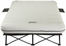 Coleman Queen Size Airbed Cot Steel Frame Camping Sleeper Bed W/ Pump Included