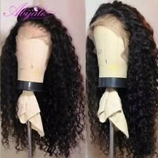 Curly lace front wig human hair