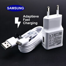 Original Samsung Galaxy J7 S7 S6 Edge Note 4 5 OEM Adaptive Fast Charger & Cable