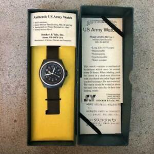 [Near Mint] STOCKER & YALE SANDY 490 Tipe1 Military Watch Manual Winding Boxed