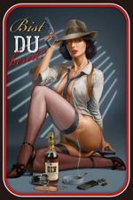 Gangster Pin Up Girl Blechschild Schild gewölbt Metal Tin Sign 20 x 30 cm CC0314