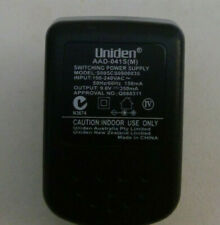 UNIDEN AC 240v 9V POWER ADAPTOR AAD-041S FOR CORDLESS PHONE MAIN BASE ONLY