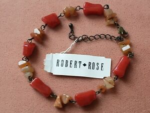"VINTAGE COLLECTABLE * COSTUME JEWELRY * BRACELET 8.5"" + LONG, ROBERT ROSE"