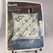 """Bucilla Creative Needlecraft Hollandia Pillow Kit  #1805 16"""""""