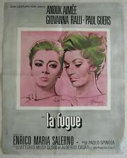 french movie poster La fugue / La fuga / The Escape Anouk Aimee