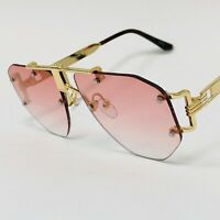 Flat, Pink and Black Lens Gold Metal 2019 Miami Style Women Men New Sunglasses