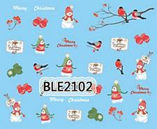 Nailart stickers décalcomanie ongles décorations de Noël oiseaux merry christmas