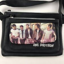 One Direction Crossbody Bag Purse Handbag Black Boy Band Adjustable Faux Leather