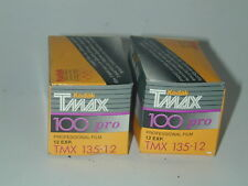 KODAK TMAX 100 PRO lot 2 FILM PELLICULE 135/12 poses noir et blanc périmé 1999