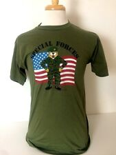 DEADSTOCK Vtg 1980's Special Forces Tee Shirt Size M Screen Stars 50/50 USA