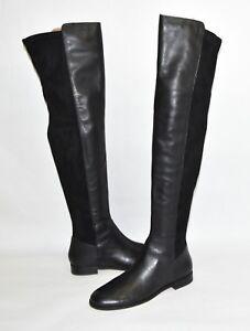 New! Corso Como Landow Over the Knee Boot Black Suede Leather 5050 Size 6.5 OTK