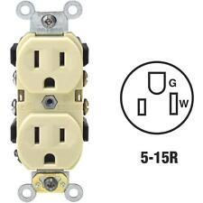 100 Pk Leviton 15A Ivory Shallow Commercial 5-15R Duplex Outlet  S01-0BR15-0IS