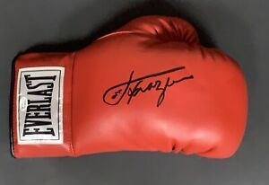 Joe Frazier Signed Boxing Glove Autographed Auto Superstar Greetings COA