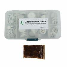 IC Kangaroo Leather Clarinet Pad Assortment (100 pads) w Adhesive, Made in USA!