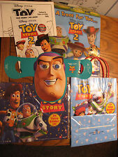 Disney Rare Original Toy Story on video and Toy Story 2 Puzzles & Gift Bags