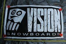 Vision Snowboards Skull Street Wear Og Skateboarding 30x50in. Shop Poster Banner