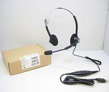 Jabra BIZ GN1900 USB DUO Noise-Canceling Black Headband Computer Headset - NEW
