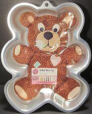 Wilton Teddy Bear Pan 2105-1193 Moule Ourson 2007 Aluminum Novelty Cake Mold NEW