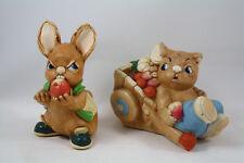 Pendelfin Bunny Rabbit Scrumpy and Barrow Boy, Lot of 2
