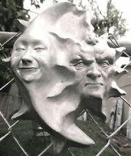 "10"" Sun & Moon Wall Sculpture for Yard & Garden, Weatherproof, by Claybraven"