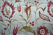 Ruby Castello Fabric by Voyage, floral, Cotton/Viscose, 3x small remnants