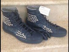 CONVERSE sneakers uomo numero 44 1/2. in pelle blu scuro con borchie. originali!