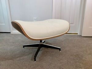 Eames Lounge Chair Ottoman - Walnut and White/Ivory - NEVER USED