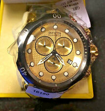 @NEW Invicta Reserve Men's Venom Swiss Movt Quartz 16150 Black Gold Tone IP