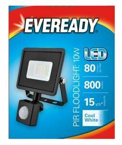 LED PIR Security Light IP44 Outdoor Floodlight 4000K Motion Sensor Lamp Eveready