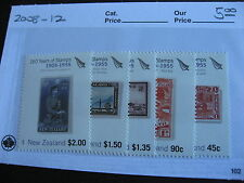 NEW ZEALAND 150 years of stamps, stamp on stamp set Sc 2008-12 MNH