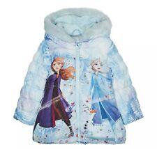 Disney Frozen-Girls' Light Blue 'Frozen' Padded Coat 12-18 Months