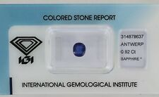 Sealed 0.92ct Blue Sapphire Cushion Mixed Cut Certificated REF:47
