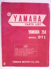 MANUEL PARTS LIST YAMAHA 250 DT1 1970