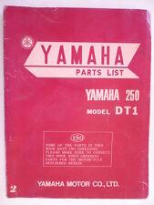 MANUEL PARTS LIST YAMAHA 250 DT1 1970