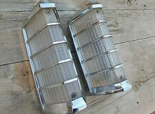 Continental Front Corner Lights w/ Metal Bezels Pair 1974 - 1979 Lincoln OEM