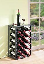 23 bottiglia vino rack con VETRO TABLE TOP CHAMPAGNE Storage titolari DECOR Display