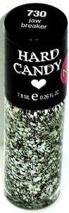 1 New HARD CANDY Nail Polish White Confetti Lime JAW BREAKER #730