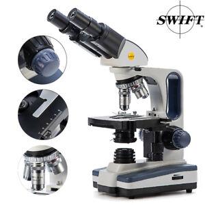 SWIFT SW350B 40-2500X Bino Koi Parasite Sperm Lab Researcher Compound Microscope