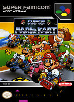 Framed Print - Super Mario Kart Super Famicon Game Cover (Picture Poster SNES)