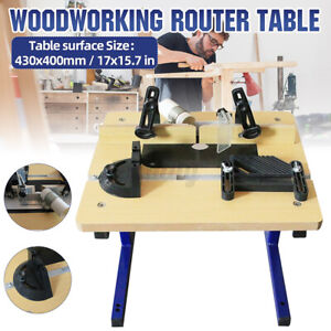 Benchtop W012 Router Table with Stand Mini Woodworking Table Trimmer Router
