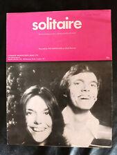 The Carpenters - 'Solitaire' - 1970's Vintage Sheet Music Score!