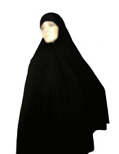 Black Ladies Woman Ihram Hajj Umrah Ehram Long Prayer Hijab Scarf Head Cover