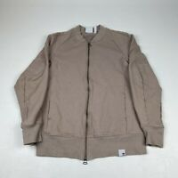 Adidas By S. Nakamura Beige Zip Front Jacket Size Small Bomber