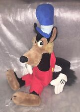 Vintage Disneyland Walt Disney World Big Bad Wolf 24 Inch Large Soft Toy Plush