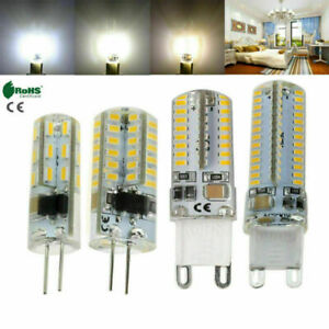 1x 5x 10x 20x G4 G9 LED Corn Bulb SMD 3014 Silicone Crystal Spot Lamp 12V 220V