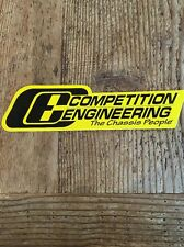 Competition Engineering Chassis Car Hot Rod  Race Toolbox Mechanic Decal Sticker