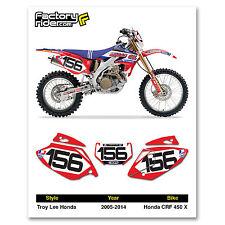2005-2014 HONDA CRF 450 X Dirt Bike Graphics Motocross Custom Number Plates TLD