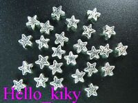 500 pcs Tibetan silver tiny star spacer beads 4mm A218